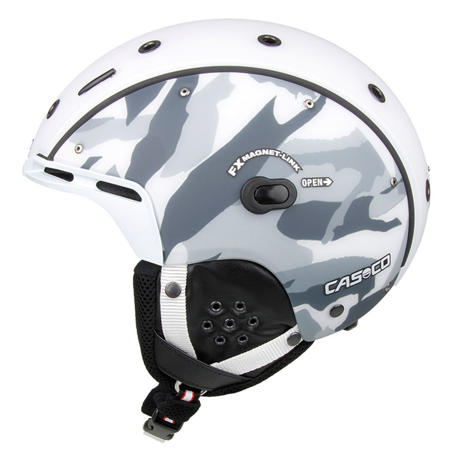 Lyžiarska prilba CASCO SP-6 Airwolf Camo white-black-grey 58-62 cm