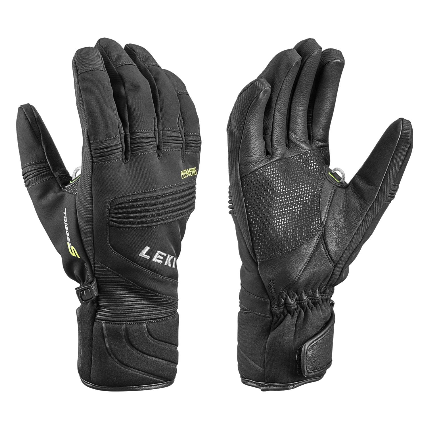 Rukavice LEKI Elements Palladium S Black Čierna 10,5