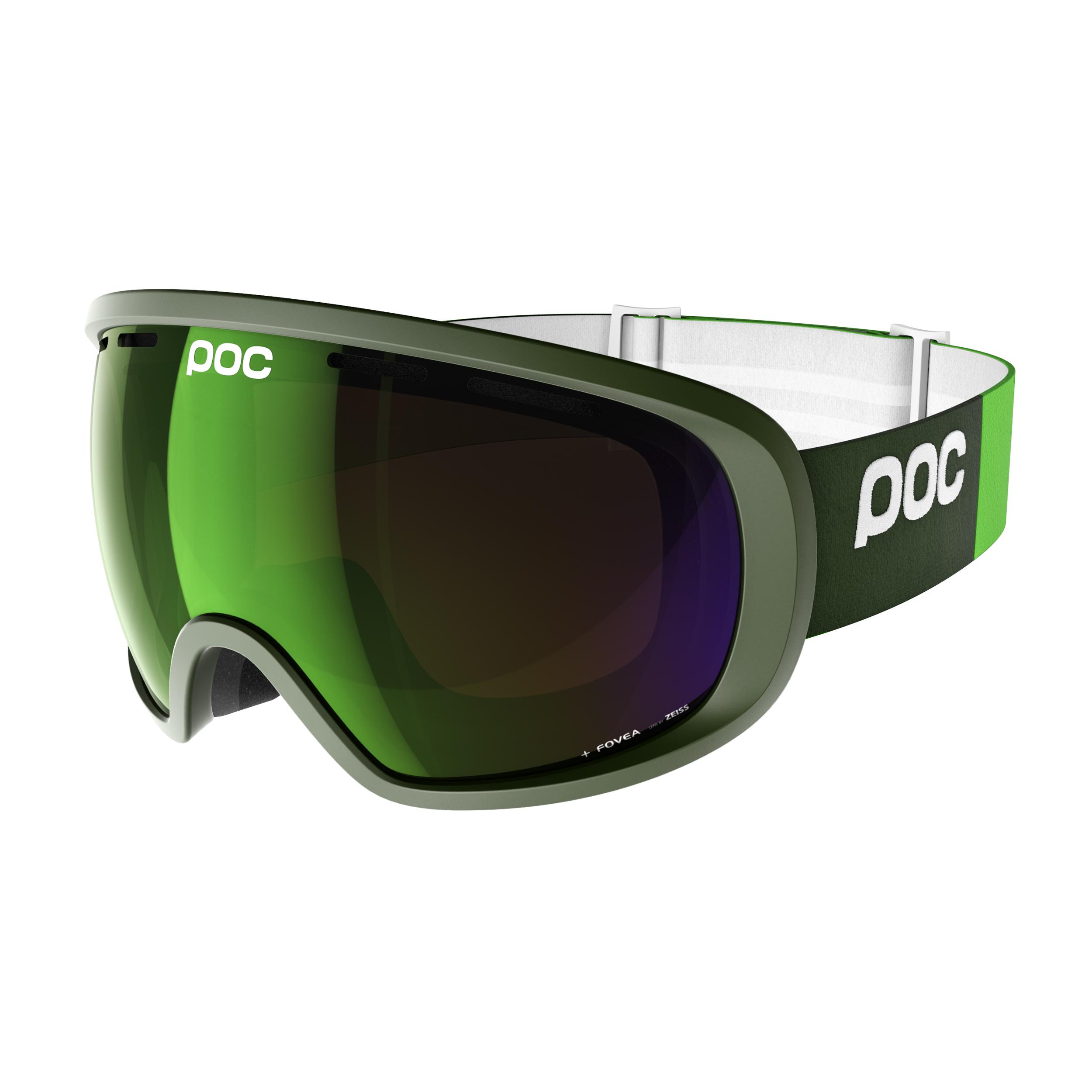 Lyžiarske okuliare POC Fovea Methane Green Zelená