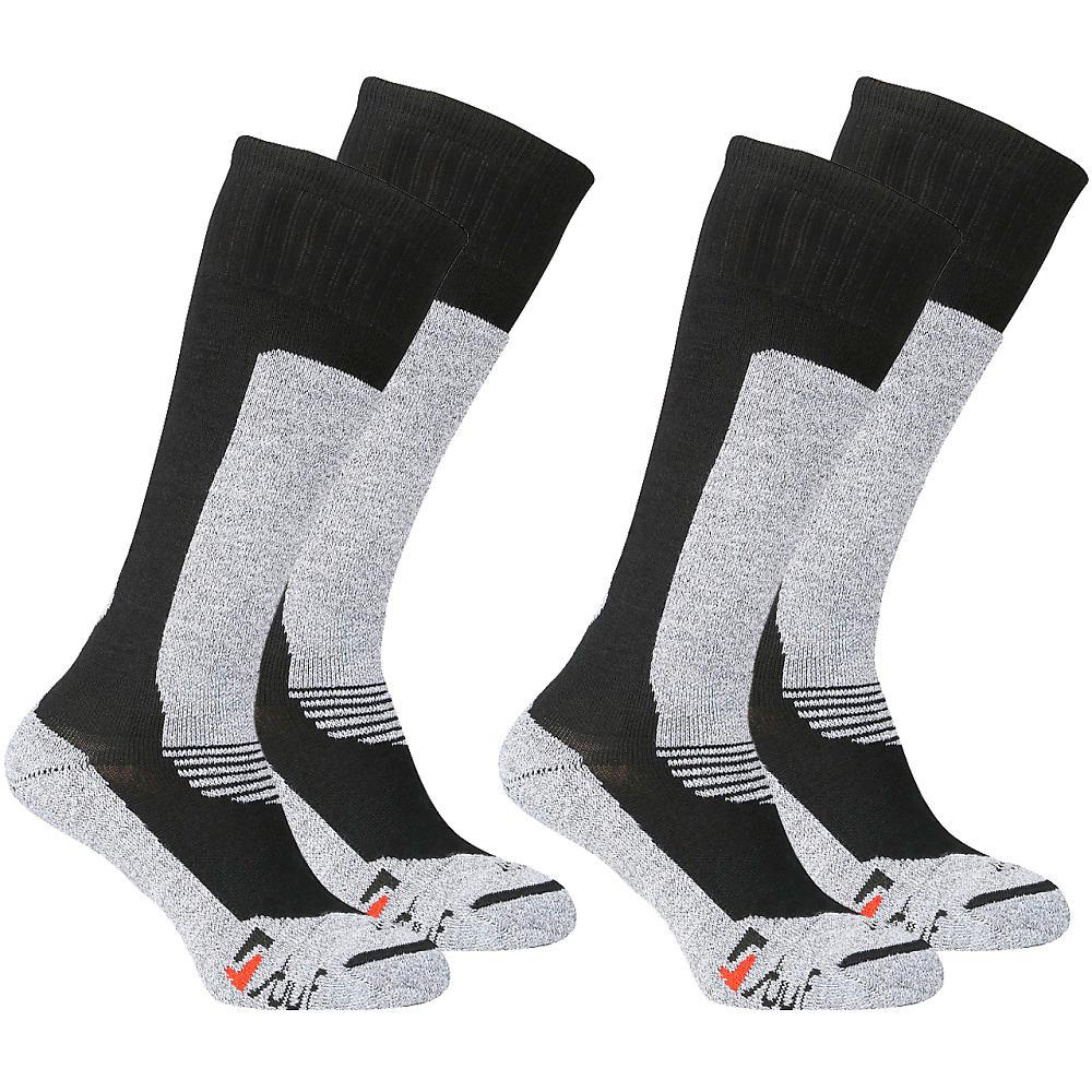 Pánske ponožky Stuf Professional Thermo Ski - dvojbalenie Čierno-šedá 43-46