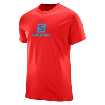 SALOMON Logo SS Coton Tee M Red