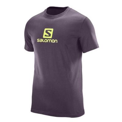 SALOMON Logo SS Coton Tee M Surf Purple