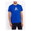 SALOMON Logo SS Coton Tee M Web Blue