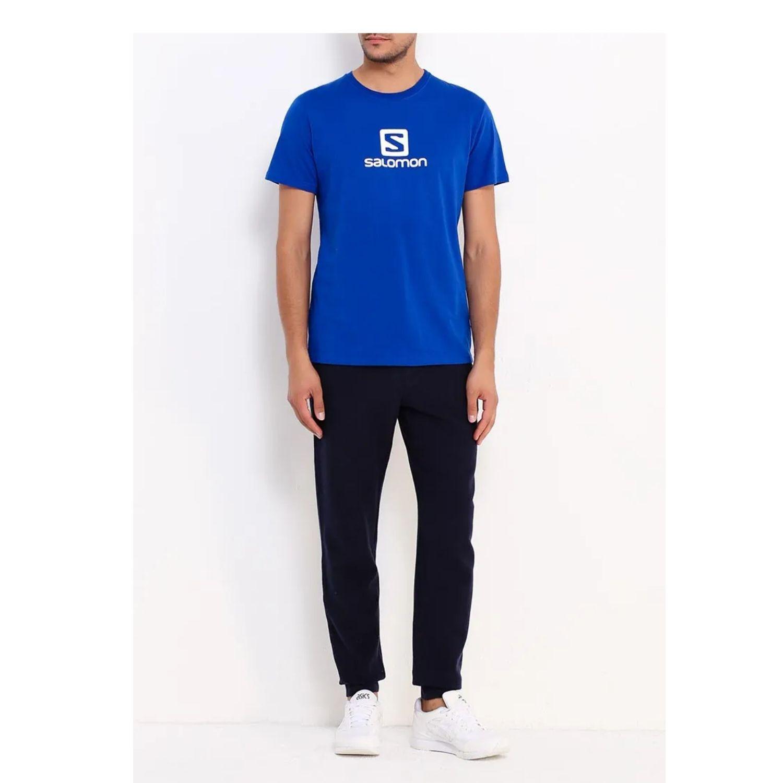 Tričko SALOMON Logo SSALOMON Logo SS Coton Tee M Web Blue Modrá S