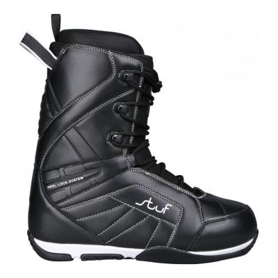 Snowboardová obuv STUF Pure Black/White