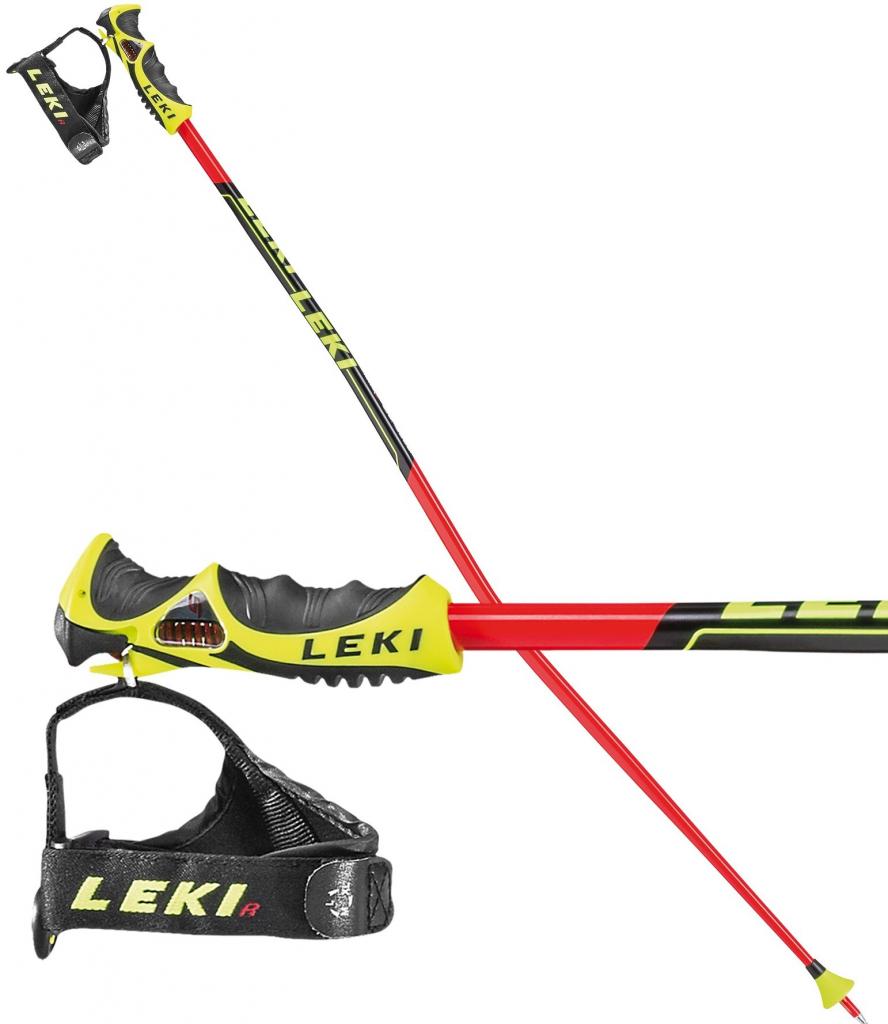 LEKI Worldcup Racing GS TBS Červeno-čierna 120 cm