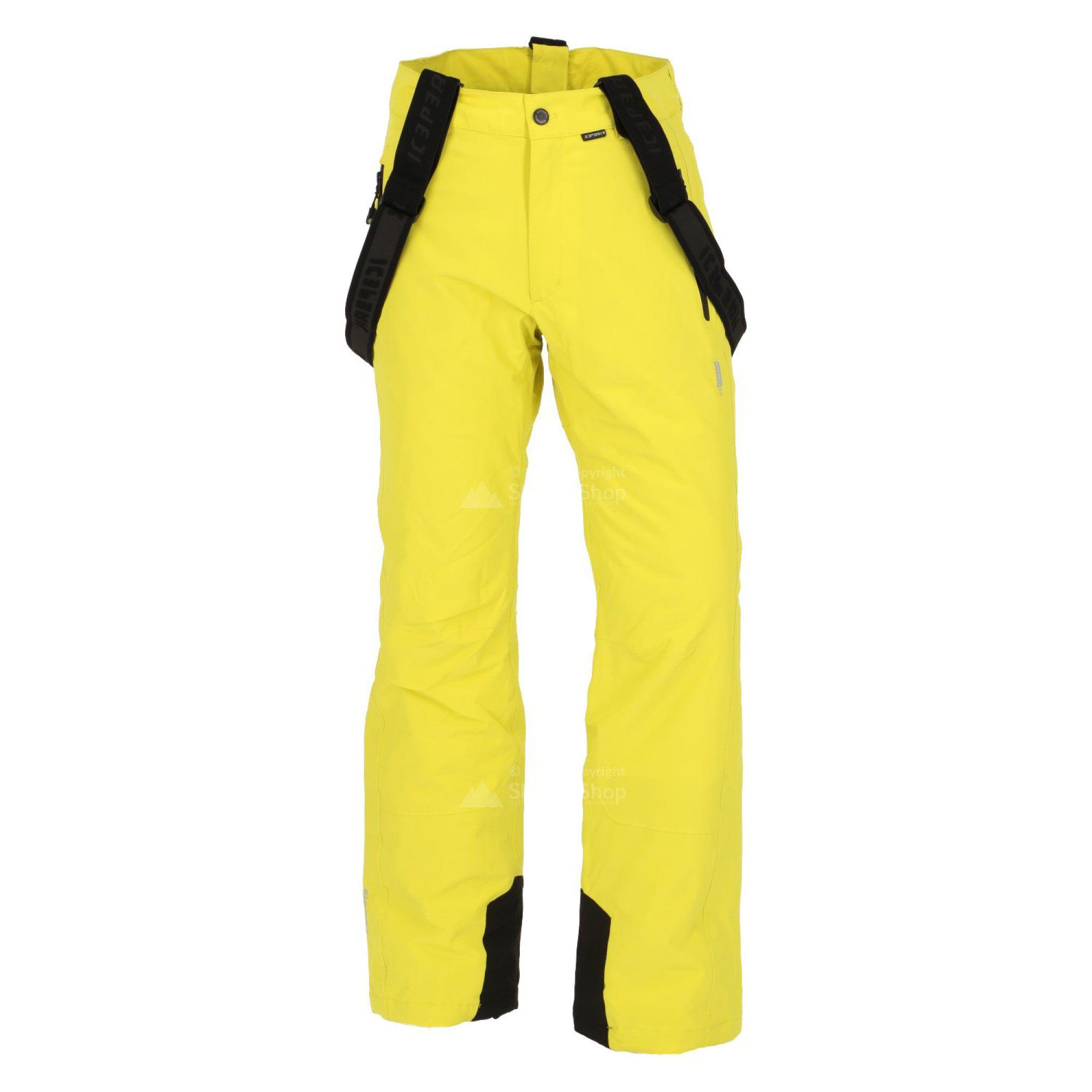 Lyžiarske nohavice ICEPEAK Noxos Yellow Žltá XXL
