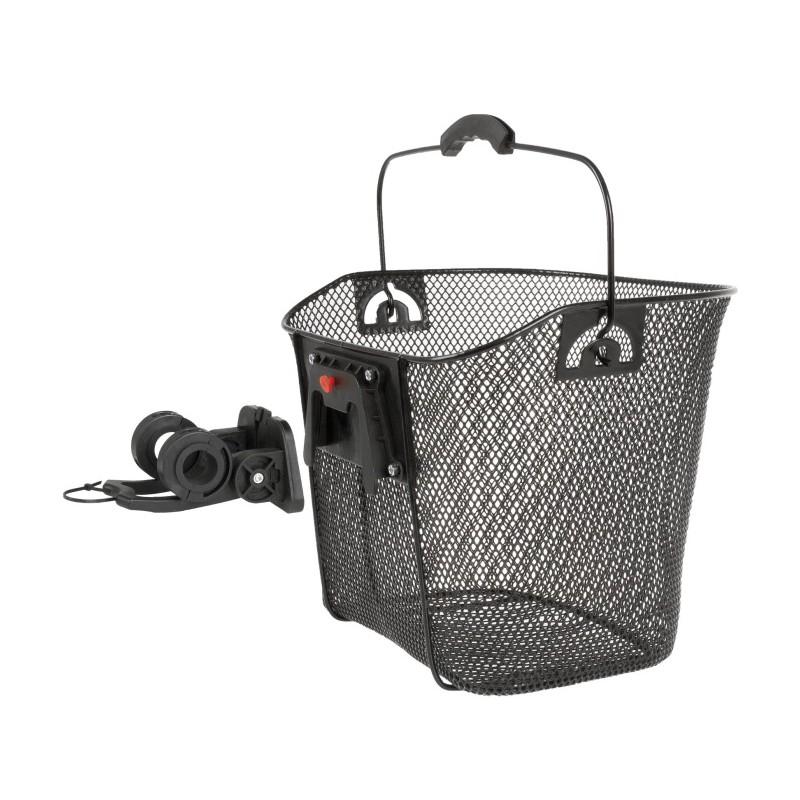 Predný košík VENTURA oceľový, clip-úchyt na riadidlá a predstavec Oceľový