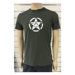PORIO ARMANI EA7 TRAIN ARMY M TEE CO Green
