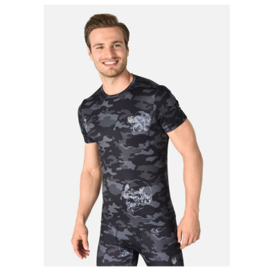 EA7 EMPORIO ARMANI Man Jersey T-Shirt Camouflage