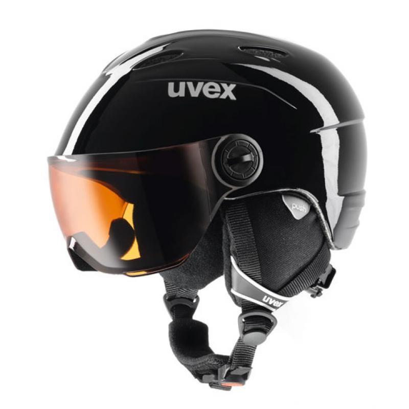 Lyžiarska prilba UVEX Junior Visor Black Čierna 46-52 cm a48904701ca