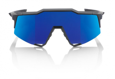 Okuliare 100% Speedcraft Tall Soft Tact Black w/ Ice Mirror