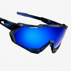 Okuliare 100% Speedtrap Polished Translucent Blu/ Electric Blue Mirror