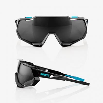 Okuliare 100% Speedtrap Polished Black Graphit/ Black Mirror