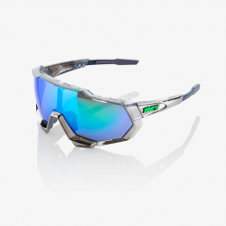 Okuliare 100% Speedtrap Chromium Gunmetal P2 Peter Sagan Green Multilayer Mirror