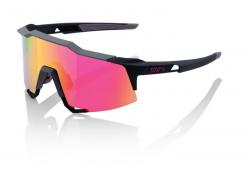 Okuliare 100% Speedcraft Tall Soft Tact Graphite w/ Purple Multilayer Mirror