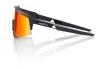 Okuliare 100% Speedcraft Tall Soft Tact Black w/ HiPer Red Multilayer Mirror