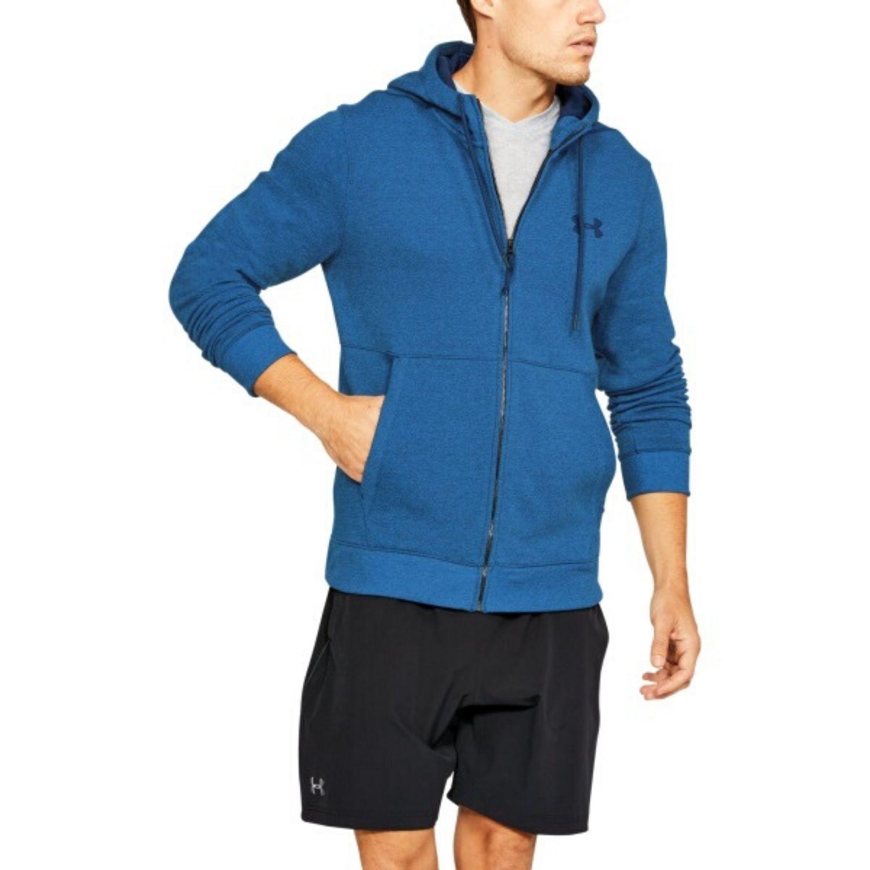Mikina UNDER ARMOUR Threadborne Fleece Full Zip Hoodie Blue Modrá S