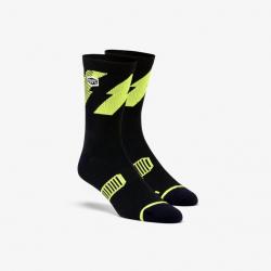 Ponožky 100% Bolt Lime