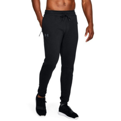 Tepláky UNDER ARMOUR Threadborne Fleece Stacked Jogger čierne