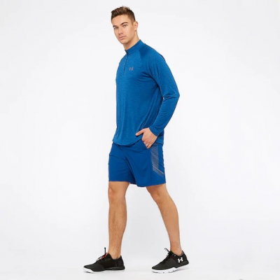 Pánske šortky UNDER ARMOUR Woven Graphic Short Blue