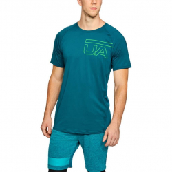 Tričko UNDER ARMOUR Raid 2.0 Graphic SS Turquoise