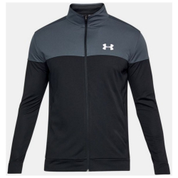 Mikina UNDER ARMOUR Sportstyle Pique Jacket sivá