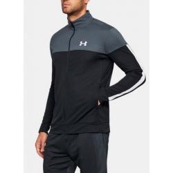 Mikina UNDER ARMOUR Sportstyle Pique Jacket sivá