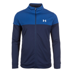 Mikina UNDER ARMOUR Sportstyle Pique Jacket modrá