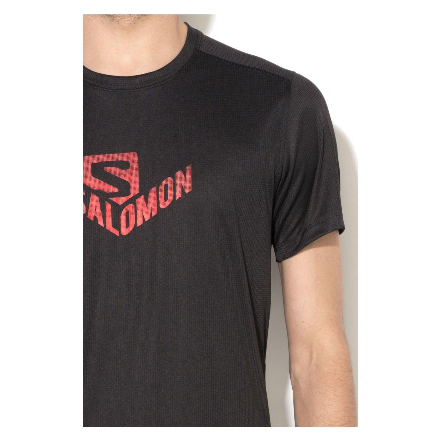 Tričko SALOMON Stroll Graphic SS Tee M Black Čierna XXL