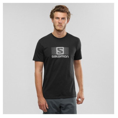 SALOMON Blend Logo SS Tee M Black