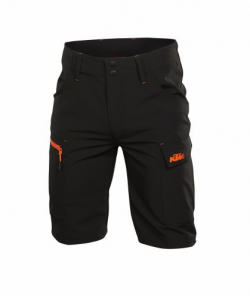 Cyklistické šortky KTM Factory Team Work Short Black/Orange
