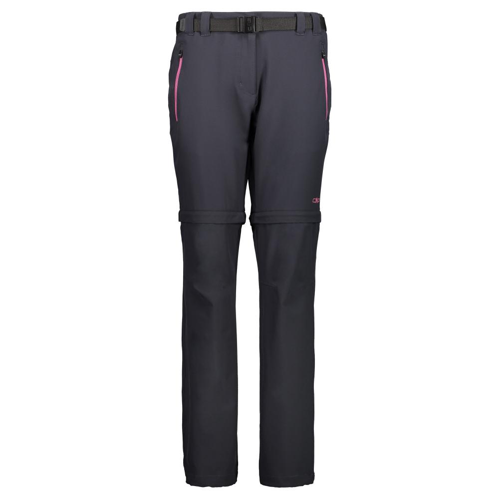 93b0cb718 Dámske turistické nohavice CAMPAGNOLO Woman Zip Off Black/Pink ...