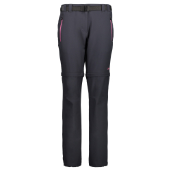 Turistické kalhoty CAMPAGNOLO Woman Zip Off Black / Pink