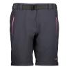 Dámske turistické nohavice CAMPAGNOLO Woman Zip Off Black/Pink