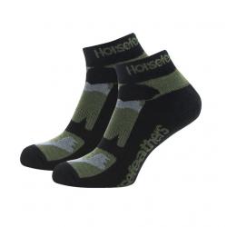 Ponožky HORSEFEATHERS Jett olive camo