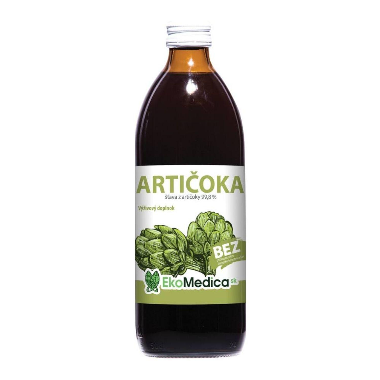EkoMedica Artičoka 99,8% šťava 500 ml 500 ml