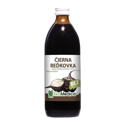 EkoMedica Čierna reďkovka 100% šťava 500 ml