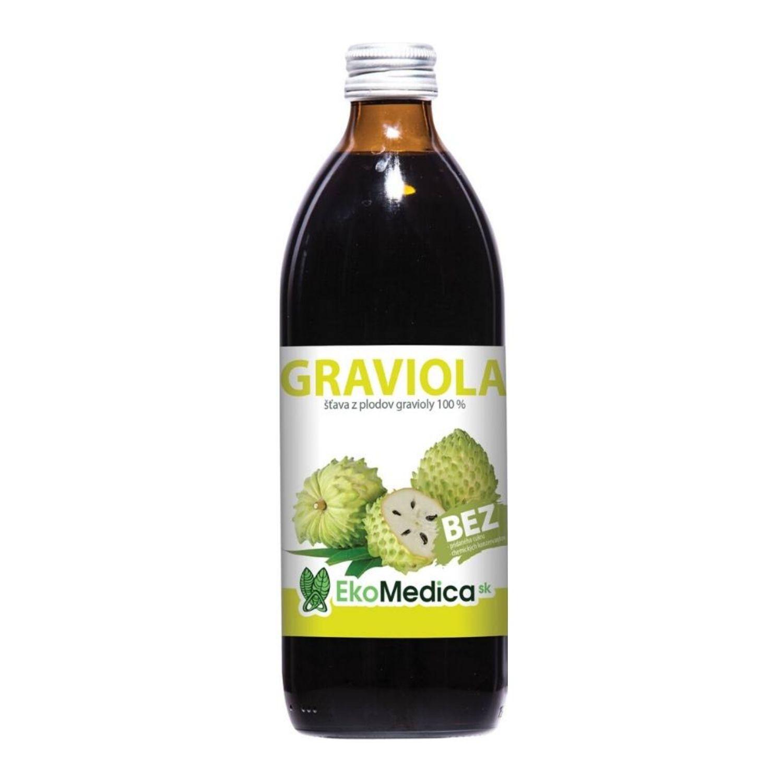 EkoMedica Graviola 100% šťava 500 ml 500 ml