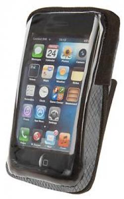 Púzdro M-WAVE dopredu na mobil Black