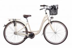 Mestský dámsky retro bicykel COSSACK Luna 28/3B 2018 vanilka