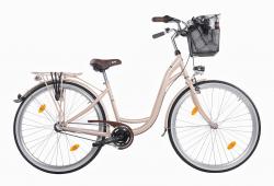Mestský dámsky retro bicykel COSSACK Luna 28/3B cappuccino - 2018