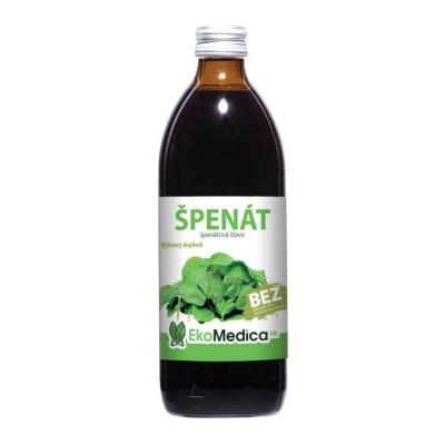 EkoMedica Špenát 100% natural šťava