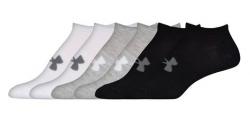 Ponožky UNDER ARMOUR SOLID 6 PKS NO SHOW Black / White / Grey