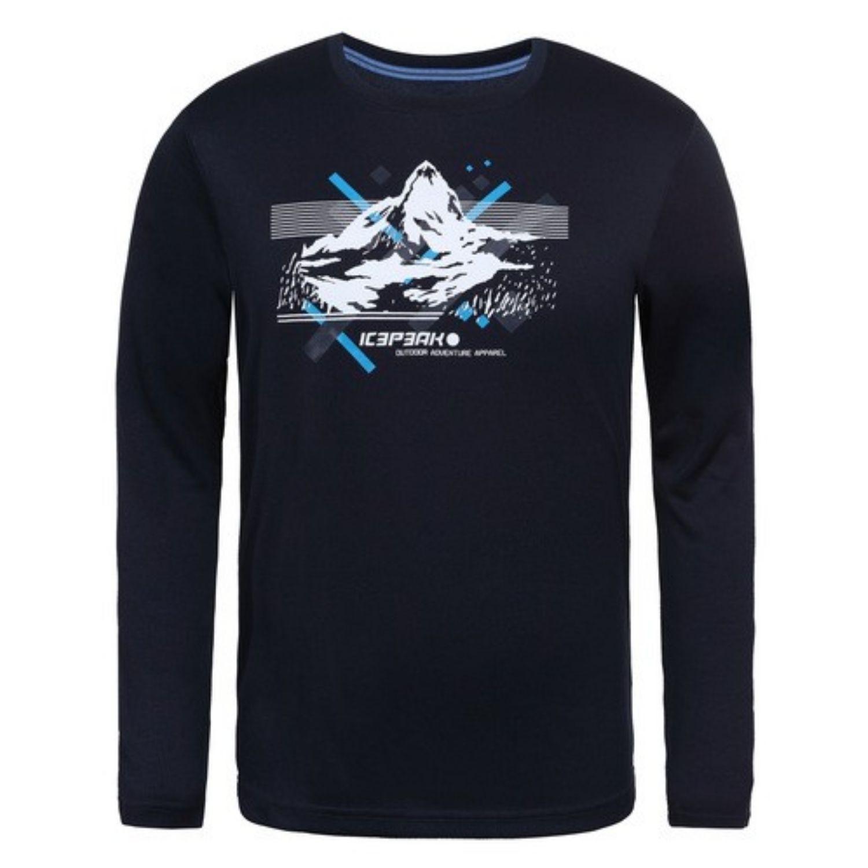 Pánske tričko ICEPEAK Leighton Black Čierna XL