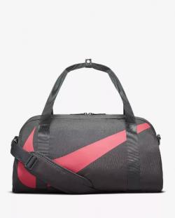 Športová taška NIKE Club Duffel - sivočervená