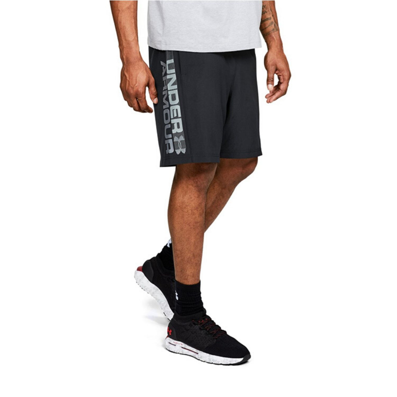 Pánske šortky UNDER ARMOUR Woven Graphic Wordmark Short Black Čierna XL