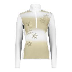 Dámsky pulóver CAMPAGNOLO Woman Sweat White / Gold - 18/19
