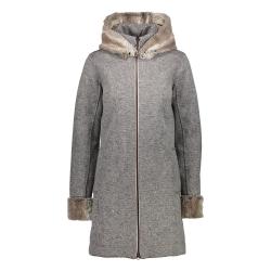 Dámsky kabát CAMPAGNOLO Woman Jacket Fix Hood Grey - 18/19