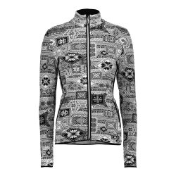 Dámska mikina CAMPAGNOLO Woman Jacket Knitted PP Black / White - 18/19